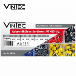 Комплект втулки за кабели 625 части / VINTECH 74526 /