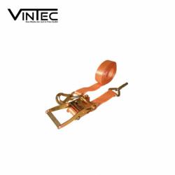 Обтяжен колан с тресчотен механизъм и куки  8 м  / VINTEC 78013 /