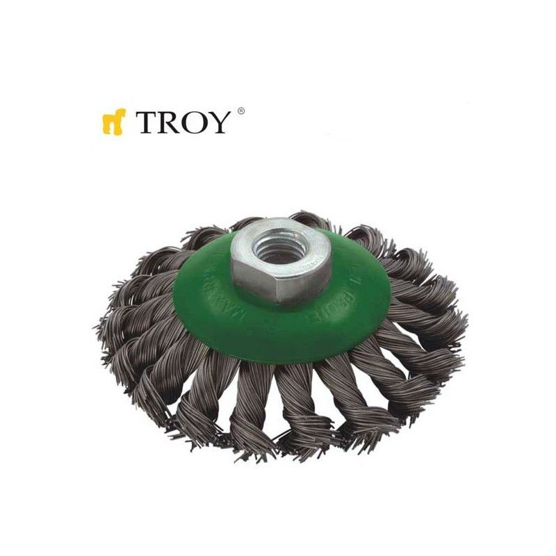 Twist Knotted Bevel Brush 100mmxM14 TROY - 1