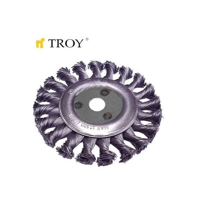 Twist Knotted Circular Brush 100mm TROY - 1