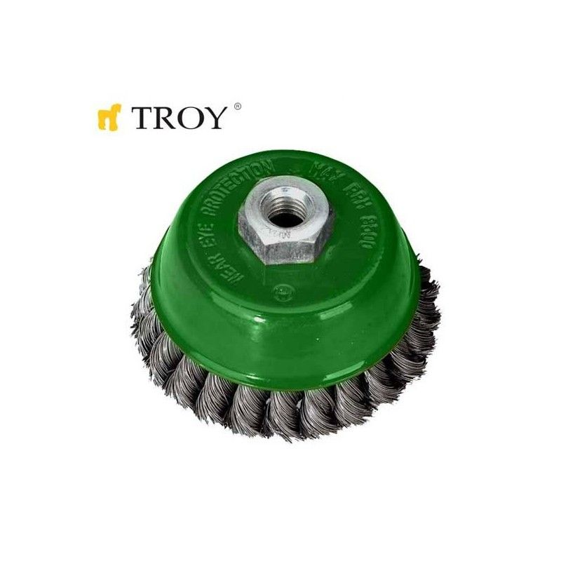 Twist Knotted Cup Brush 65mm TROY - 1