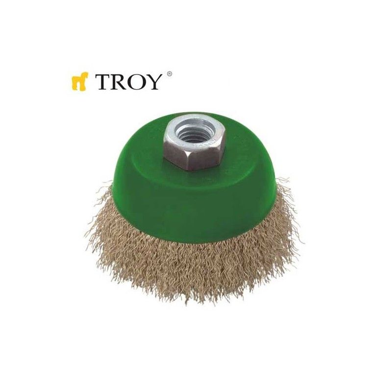 Crimped Cup Brush 100mm TROY - 1