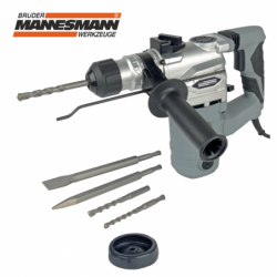 Rotary hammer with 3 functions - drilling, chiselling, percussion drilling / Mannesmann 12597 /, 1500 W, SDS