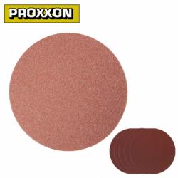 Self-adhesive white corundum sanding discs for TG 125/E 5 pieces / PROXXON 28160 / grid 80