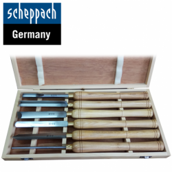 Wood Lathe Chisel Set 6pcs. / Scheppach 88002717 /