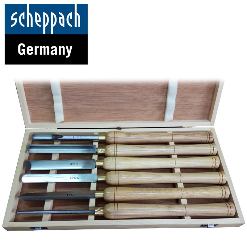 Комплект стругарски длета за дърво 6 бр. / Scheppach 88002717 /