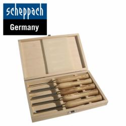 Комплект стругарски длета за дърво 5 бр. / Scheppach 88002716 /