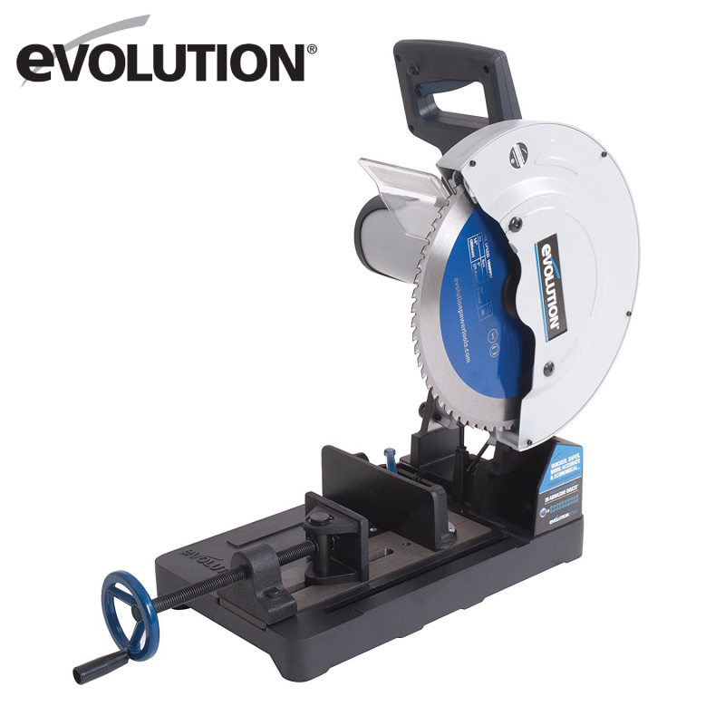Cut off saw EVOSAW355 with steel cutting blade / EVOLUTION /