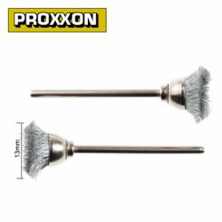 Комплект четки - стоманен косъм 13 мм 2 броя / PROXXON 28953 /
