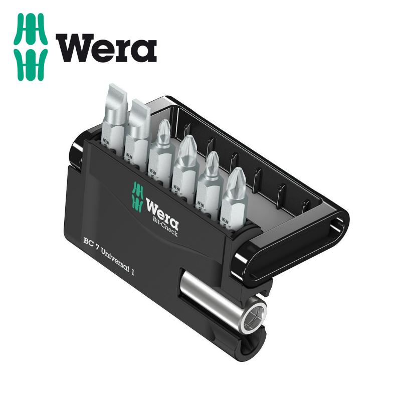 Bit set with bit holder 7 pieces / WERA 05056295001 /