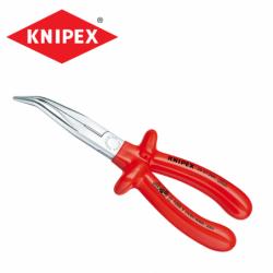Електричарски клещи с остри закривени човки, 200 мм, VDE изолирани / KNIPEX 2627200