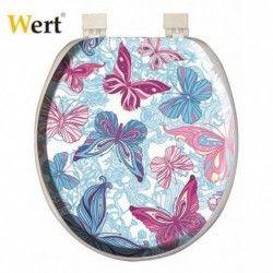 Toilet seat cover / Wert 8214 / (butterflies)