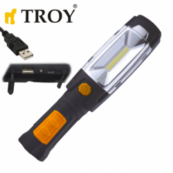 Акумулаторна работна лампа COB LED и 6 светодиода / Troy 28055 /