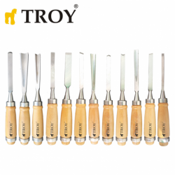 Wood Carving Chisel Set 12 pcs. / Troy 25004 /