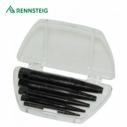 Screw extractor set 5 pieces size 1– 5 in plastic case / RENNNSTEIG 4709003 /