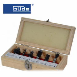 Комплекти фрезери за дърво, Ф 8 мм, 6 бр / GÜDE 58315 /