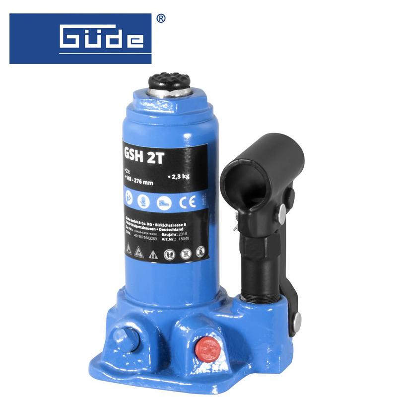 Хидравличен крик тип бутилка GSH 2T, капацитет 2 т / GÜDE 18040 /