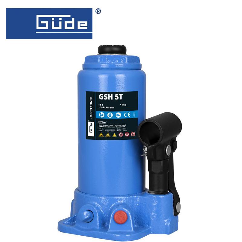 Хидравличен крик тип бутилка  GSH 5T, капацитет 5 т / GÜDE 18041 /