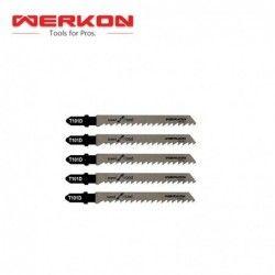 Резервен трион за зеге, T101D 100мм  5 бр / Werkon 38399 /