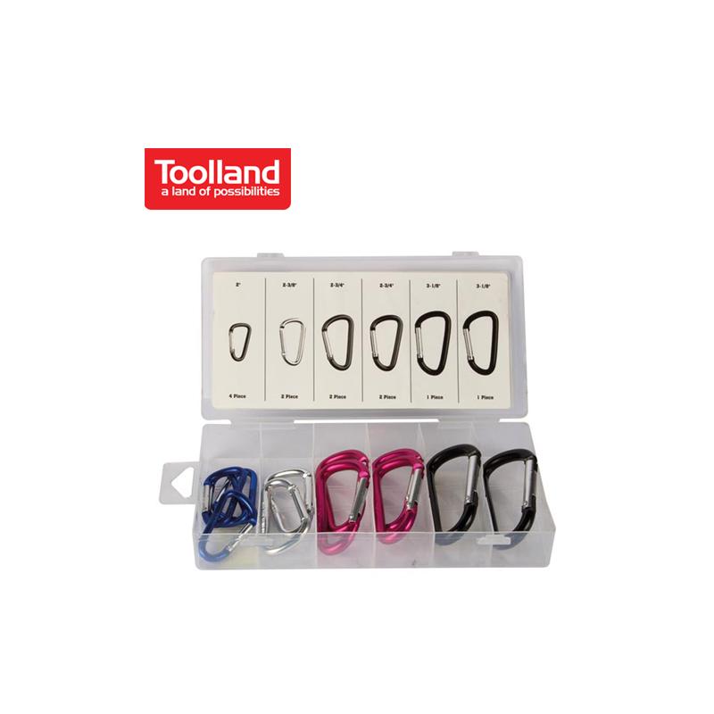 Комплект карабинки, 12 броя / Toolland HAS09 /