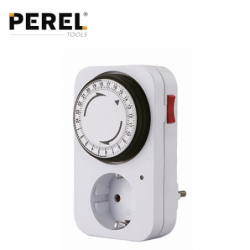 Socket with timer 24 hour / PEREL E305D3-G /