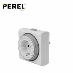 Socket with compact Timer 24 hour / PEREL E305D4-G /