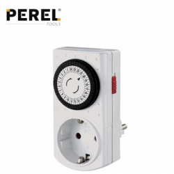 Socket with mini timer 24 hour / PEREL E305DM-G /